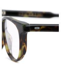 Cutler & Gross Brown Rectangular Frame Glasses