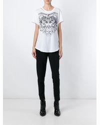 Alexander McQueen - White Skull Crest T-shirt - Lyst