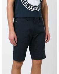 DIESEL - Black Classic Bermuda Shorts for Men - Lyst