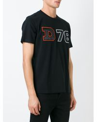 DIESEL | Black Print T-shirt for Men | Lyst