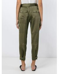 Theory - Green Cropped Trousers - Lyst