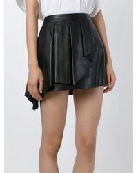 Neil Barrett | Black Front Pleat A-line Skirt | Lyst