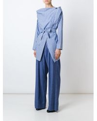 Vivienne Westwood Anglomania | Blue Wide Leg Trousers | Lyst
