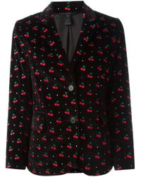 Marc By Marc Jacobs - Black Embroidered Cherry Blazer - Lyst