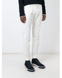 7 For All Mankind - White 'ronnie' Jeans - Lyst