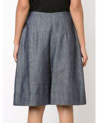 Adam Lippes - Blue Wide Leg Shorts - Lyst
