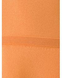 Scanlan Theodore Orange Peplum Knit Top