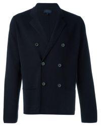 Lanvin | Blue Double Breasted V-neck Cardigan for Men | Lyst