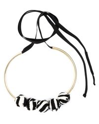 Marni - Multicolor Zebra Pattern Necklace - Lyst