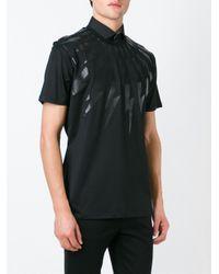 Neil Barrett Black Lightning Bolt T-shirt for men