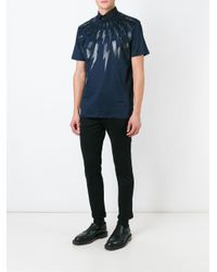 Neil Barrett Blue Lightning Bolt T-shirt for men