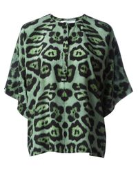 Givenchy | Green Leopard Print Top | Lyst