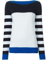 MICHAEL Michael Kors - Black Striped Sweater - Lyst
