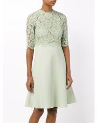 Valentino Green Lace Mini Dress