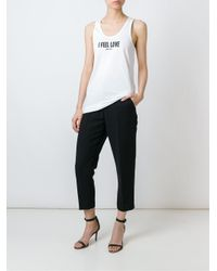 Givenchy White I Feel Love Tank Top