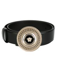 Versace Black Medusa Chain Belt