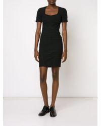 Yigal Azrouël Black Fitted Stretch Dress