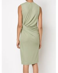 Givenchy Green Fitted Gathered Dress