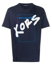 メンズ Michael Kors ロゴ Tシャツ Blue