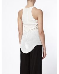 Rick Owens - Natural Curved Hem Tank Top - Lyst