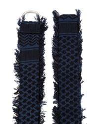 Cecilie Copenhagen Blue Frayed Buckle Belt
