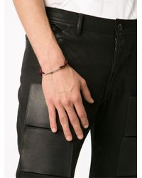 1-100 - Metallic Twisted Wire Bead Bracelet - Lyst