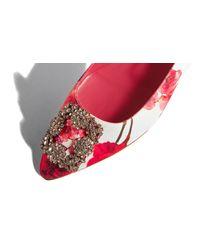 Manolo Blahnik - Multicolor Hangisi Ballet Flats - Lyst