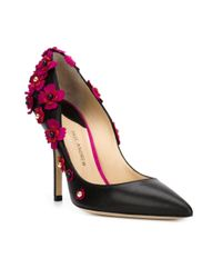 Paul Andrew - Black Ordos Flower Appliqué Pumps - Lyst