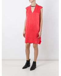8pm - Red Allover Star Print Loose Fit Dress - Lyst