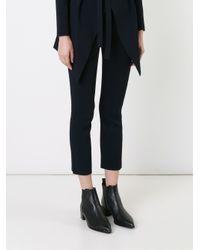 Scanlan Theodore Black Crepe Knit Bootcut Pants