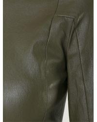 Scanlan Theodore Black Stretch Leather Top
