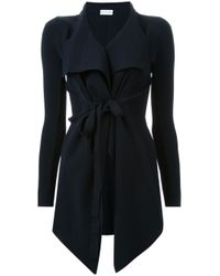 Scanlan Theodore Black Belted Draped Front Jacket