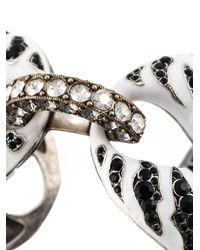 Lanvin - Black Embellished Link Cuff - Lyst