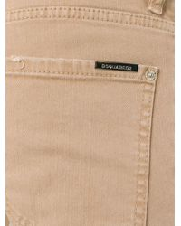DSquared² - Blue Busted Straight-leg Jeans for Men - Lyst