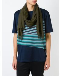 Lanvin - Green Classic Scarf for Men - Lyst