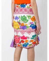 Stella Jean - Multicolor Printed Ruffled Skirt - Lyst