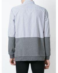 Ejxiii Blue Striped Combi-shirt for men