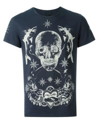 Alexander McQueen Black Skull Tattoo T-shirt for men