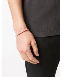 Luis Morais - Red Dice Motif Beaded Bracelet - Lyst