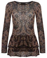 Cecilia Prado - Black Round Neck Knitted Blouse - Lyst