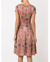 Cecilia Prado - Multicolor Round Neck Flared Knitted Dress - Lyst