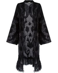 Cecilia Prado - Green Open Front Long Knitted Cardigan - Lyst