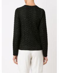 Cecilia Prado - Black Round Neck Knitted Cardigan - Lyst