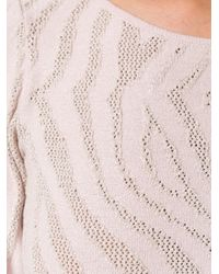 Cecilia Prado - Blue Cropped Knitted Blouse - Lyst
