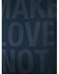 Neil Barrett - Blue Make Love Not War T-shirt for Men - Lyst