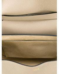 Chloé Gray Drew Lambskin Shoulder Bag