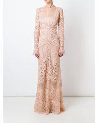 Elie Saab | Blue 'melrose' Lace Dress | Lyst