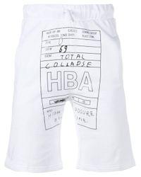 Hood By Air White Logo Jock Shorts for men