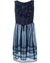 Comme des Garçons | Blue Front Ruffle Flounced Dress | Lyst