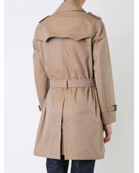 Loveless Brown Midi Trench Coat for men
